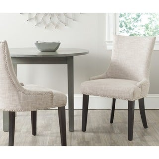 """Safavieh Dining Lester Grey Viscose Blend Dining Chairs (Set of 2) - 22"""" x 24.8"""" x 36.4"""""""