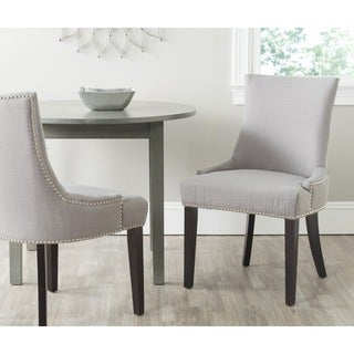 Safavieh En Vogue Dining Lester Arctic Grey Terelyne/ Cotton Blend Dining Chairs (Set of 2)