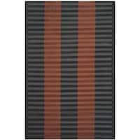 Safavieh Hand-knotted Nepalese Dark Beige/ Navy Wool Rug - 6' x 9'