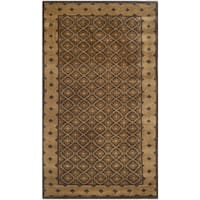 Safavieh Hand-knotted Nepalese Brown Wool/ Silk Area Rug - 3' x 5'