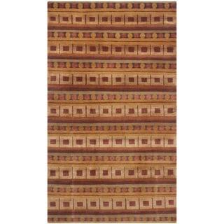 Safavieh Hand-knotted Nepalese Rust/ Multi Wool/ Silk Rug (3' x 5')