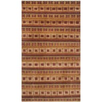 Safavieh Hand-knotted Nepalese Rust/ Multi Wool/ Silk Rug - 3' x 5'