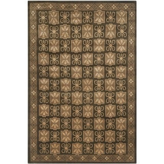 Safavieh Hand-knotted Nepalese Brown Wool/ Silk Rug (8' x 10')