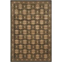 Safavieh Hand-knotted Nepalese Brown Wool/ Silk Rug - 8' x 10'