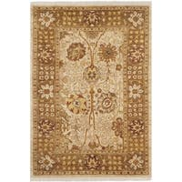 Safavieh Hand-knotted Peshawar Vegetable Dye Ivory/ Gold Wool Rug - 3' x 5'