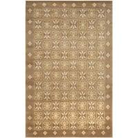 Safavieh Hand-knotted Nepalese Beige Wool/ Silk Rug - multi - 8' x 10'