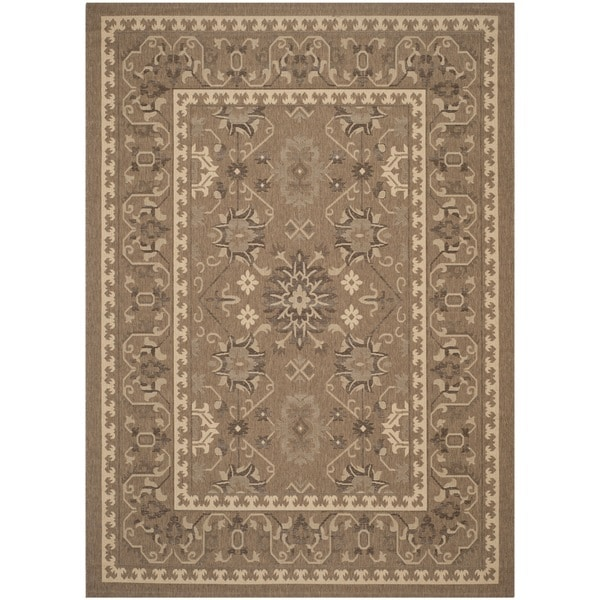 Shop Safavieh Courtyard Charm Brown Cream Indoor Outdoor