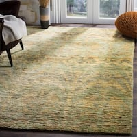 Safavieh Hand-knotted Bohemian Green/ Gold Jute Rug - 5' x 8'