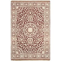 Safavieh Hand-knotted Ganges River Red/ Ivory Wool Rug - 4' x 6'