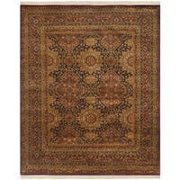 Safavieh Hand-knotted Lavar Navy/ Red Wool Rug - 9' x 12'