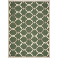 Safavieh Courtyard Moroccan Dark Green/ Beige Indoor/ Outdoor Rug - 9' x 12'