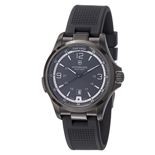 Swiss Army Men's 241596 'Night Vision' Black Dial Black Rubber Strap Watch
