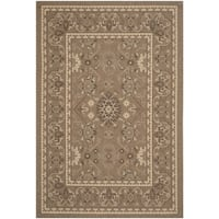 Safavieh Courtyard Charm Brown/ Cream Indoor/ Outdoor Rug (6'7 x 9'6)