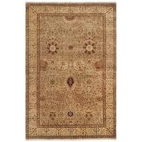 Safavieh Hand-knotted Lavar Slate/ Ivory Wool Rug - 4' x 6'