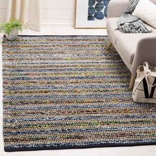 Safavieh Cape Cod Handmade Blue / Multi Jute Natural Fiber Rug (6' Square)