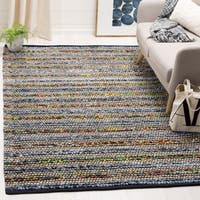 Safavieh Cape Cod Handmade Blue / Multi Jute Natural Fiber Rug - 6' Square