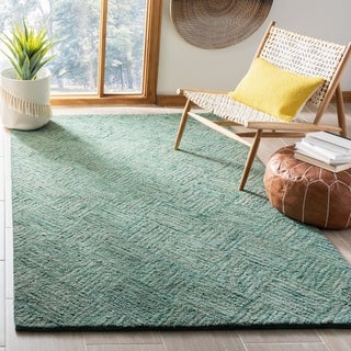 Safavieh Handmade Nantucket Abstract Green/ Multi Cotton Rug (5' x 8')