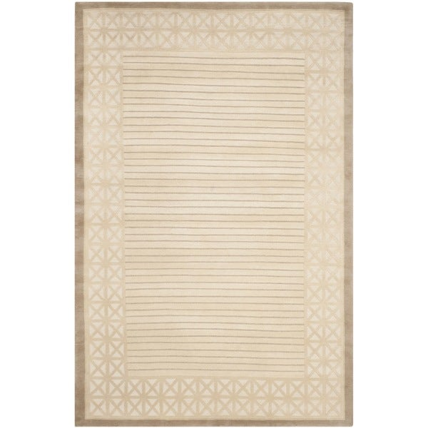 Safavieh Hand-knotted Nepalese Ivory/ Beige Wool Rug - 9' x 12'