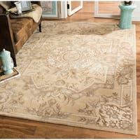 Safavieh Handmade Savonnerie Sand Wool/ Viscose Rug - 9' x 12'