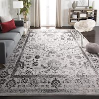 Safavieh Adirondack Vintage Distressed Grey / Black Large Area Rug (10' x 14') - 10' x 14'