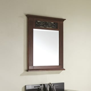 Avanity Napa 24-inch Mirror in Dark Cherry Finish