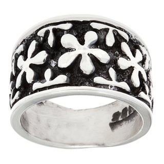 .925 Sterling Silver Flower Fashion Ring