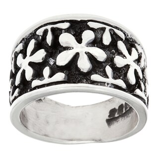 .925 Sterling Silver Flower Fashion Ring (4 options available)