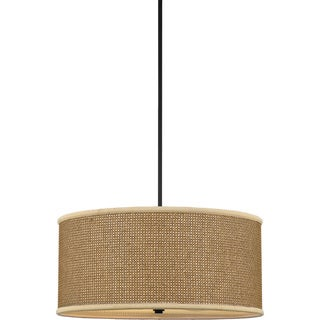 'Zen' Tan Rattan Shade 4-light Pendant