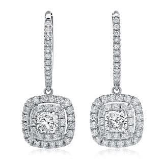 Azaro 14k White Gold 1 1/5ct TDW Cushion Diamond Leverback Earrings|https://ak1.ostkcdn.com/images/products/8948452/14k-White-Gold-1-1-5ct-TDW-Cushion-Diamond-Leverback-Earrings-G-H-SI2-I1-P16160514.jpg?impolicy=medium