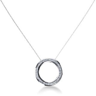 SummerRose 14k White Gold 1 1/4ct TDW Diamond Circle Necklace (G-H, SI1-SI2)