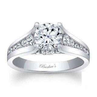 Barkev's Designer 14k White Gold 1 3/5ct TDW Diamond Engagement Ring