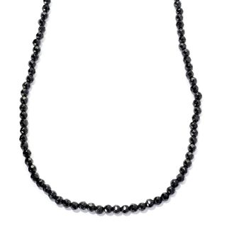 Sterling Silver Black Spinel 18-inch Bead Necklace