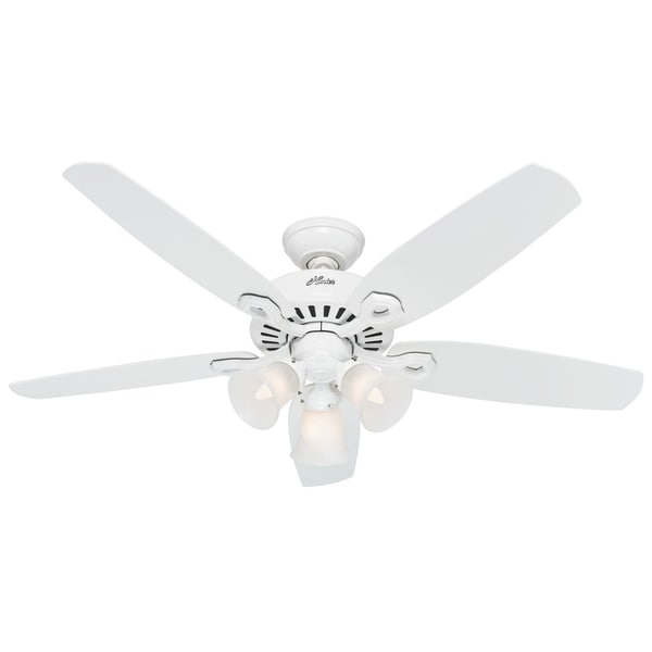 Hunter 52-inch Builder Plus White Ceiling Fan
