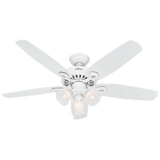 Hunter 52-inch Builder Plus White Ceiling Fan