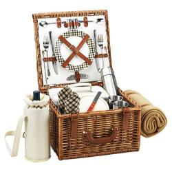 Picnic at Ascot Cheshire Basket for Two with Coffee Set/Blanket Wicker/London