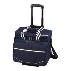 Picnic at Ascot Picnic Cooler for Four/Wheeled Cart Navy/White