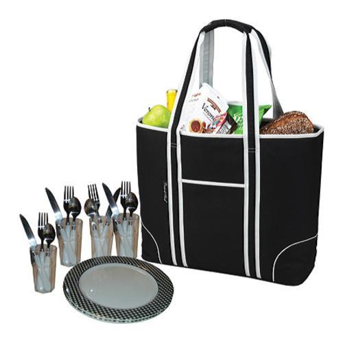 Picnic at Ascot Large Insulated Picnic Tote for Four Blac...