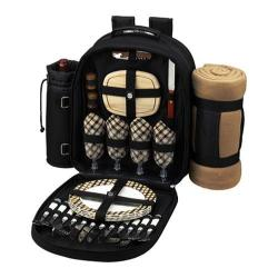 Picnic at Ascot Picnic Coffee Combination for Two Black/London Plaid