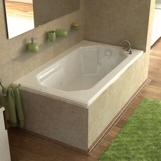 Mountain Home Elysian 36x60-inch Acrylic Air and Whirlpool Jetted Drop-in Bathtub