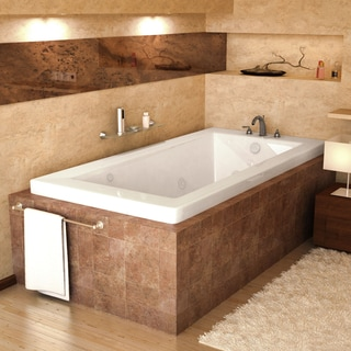 Mountain Home Vesuvius 36x74-inch Acrylic Air and Whirlpool Jetted Drop-in Bathtub