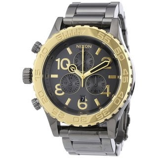 Nixon Men's Chrono Gun n' Gold Watch
