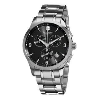 Swiss Army Men's 241478 'Alliance' Black Dial Stainless Steel Bracelet Quartz Watch