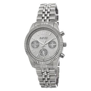 Link to August Steiner Women's Swiss Quartz Multifunction Stainless Steel Silver-Tone Bracelet Watch Similar Items in Women's Watches