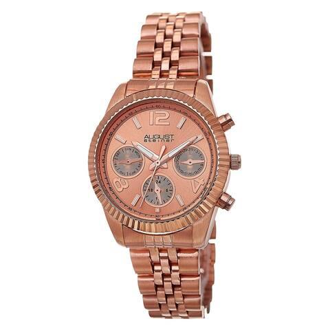 August Steiner Women's Swiss Quartz Multifunction Stainless Steel Rose-Tone Bracelet Watch