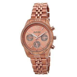 August Steiner Women's Swiss Quartz Multifunction Stainless Steel Rose-Tone Bracelet Watch with FREE GIFT https://ak1.ostkcdn.com/images/products/8949424/P16161304.jpg?_ostk_perf_=percv&impolicy=medium