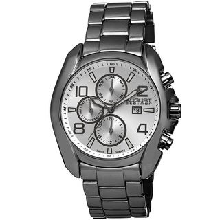 August Steiner Men's Swiss Quartz Multifunction Black Bracelet Watch