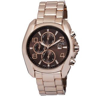 August Steiner Men's Swiss Quartz Multifunction Rose-Tone Bracelet Watch
