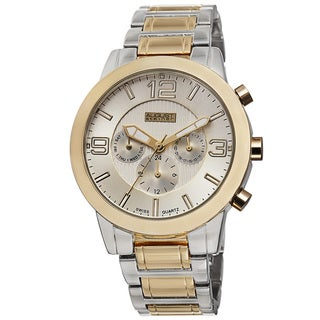August Steiner Men's Swiss Quartz Multifunction Two-Tone Bracelet Watch