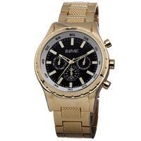 August Steiner Men's Swiss Quartz Multifunction Gold-Tone Bracelet Watch