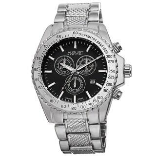 Link to August Steiner Men's Tachymeter Swiss Quartz Chronograph Silver-Tone Bracelet Watch Similar Items in Men's Watches